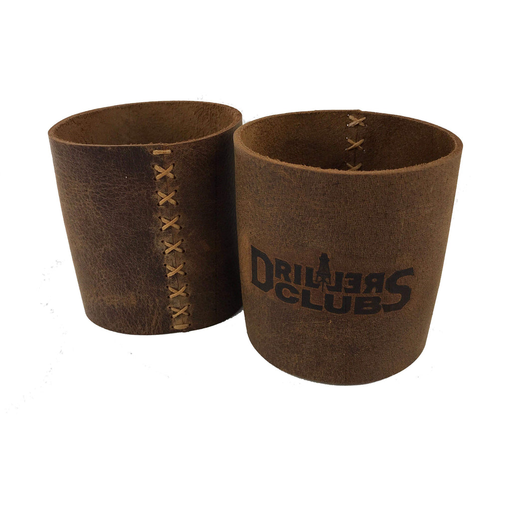 Drillers Club Leather Drink Holders