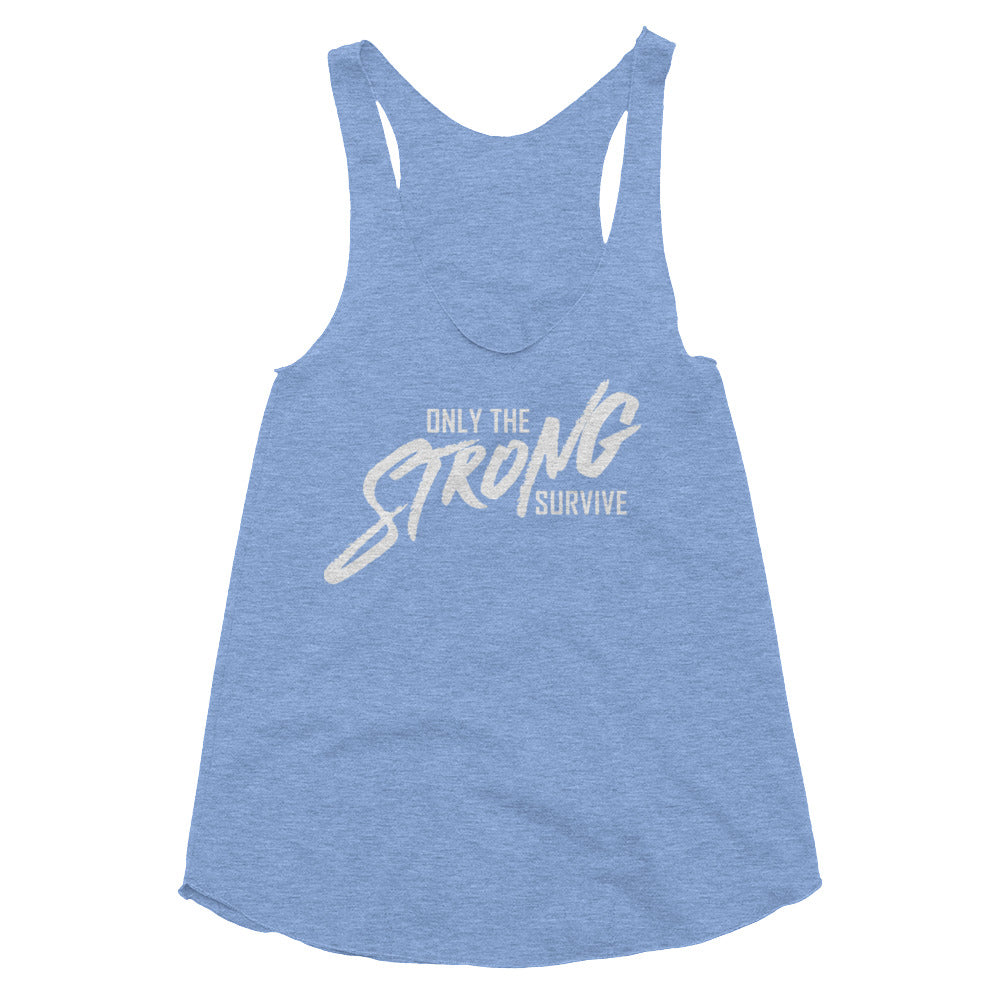 Strong Survive Tri-Blend Racerback Tank