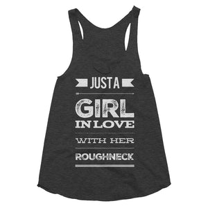 Roughneck Love Black Tri-Blend Racerback