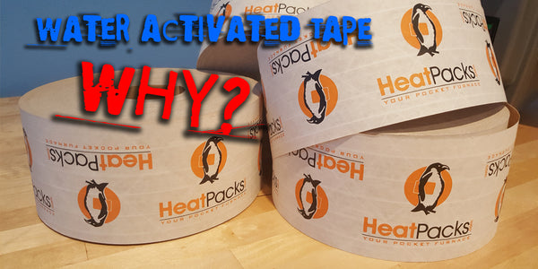 Why do we use water activated tape?