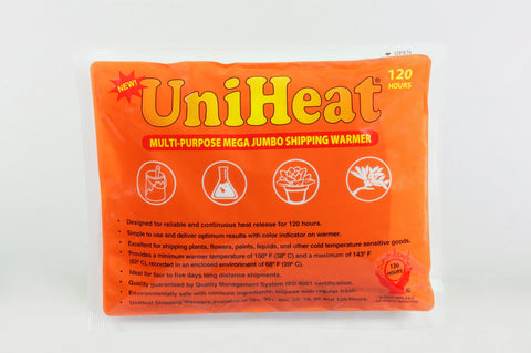UniHeat 120 Hour Shipping Warmer - Front of Packaging