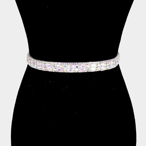 Crystal Sash Ribbon Belt - iBESTEST.com