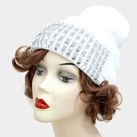 Blinged Lines Beanie Hat
