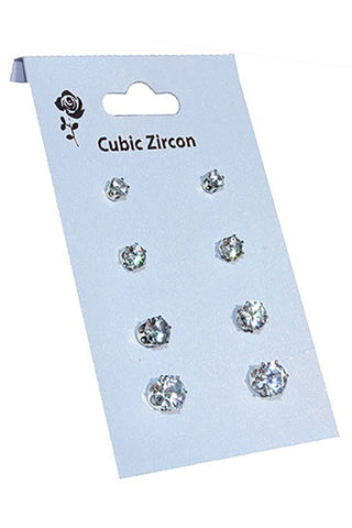 Classic CZ Stud Earrings - iBESTEST.com
