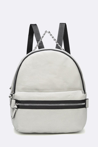 Leather Chain Backpack