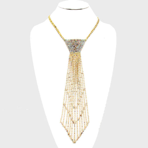 Drizzle Crystal Tie