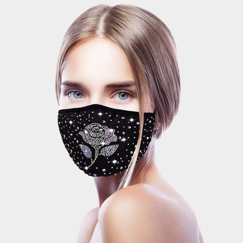 Crystal Rose Mask