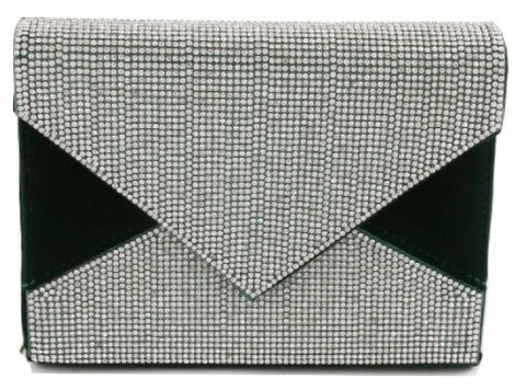 Rhinestone Envelope Evening Clutch Bag - iBESTEST.com