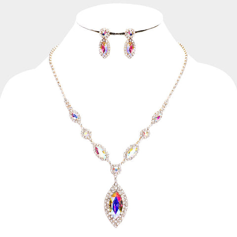 Crystal Pendant Evening Necklace - iBESTEST.com