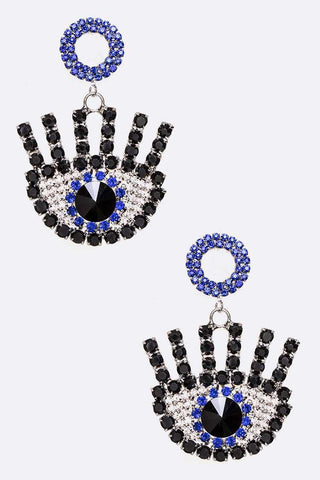 Evil Eye Drop Earrings - iBESTEST.com