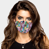 Feather Face Fashion Mask
