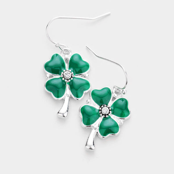 Four Leaf Clover Earrings - iBESTEST.com