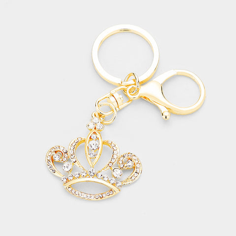 Crown with Crystals Keychain - iBESTEST.com