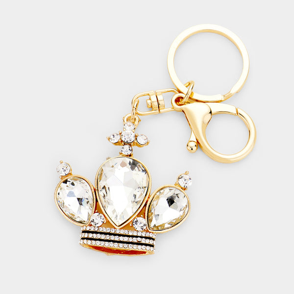 3D Crystal Crown Keychain - iBESTEST.com