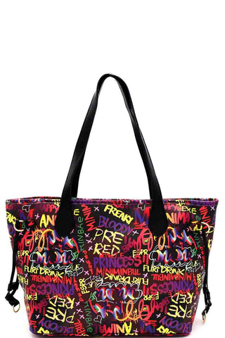 Groovy Graffiti Multicolor Tote Bag