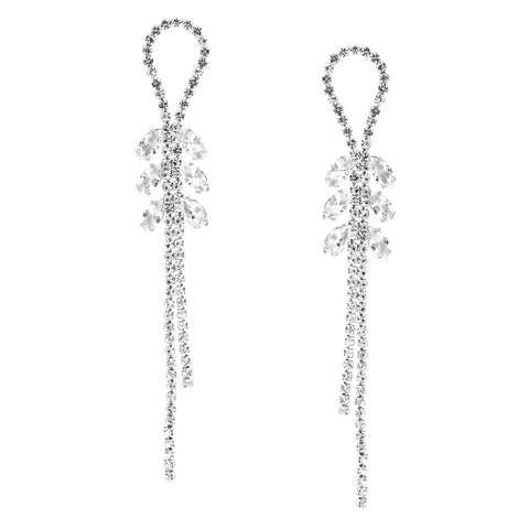 Double Crystal Drop Earrings - iBESTEST.com