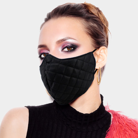 Leather Quilted Mask
