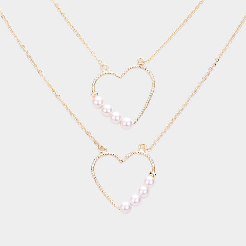 Pearl Heart Necklace - iBESTEST.com