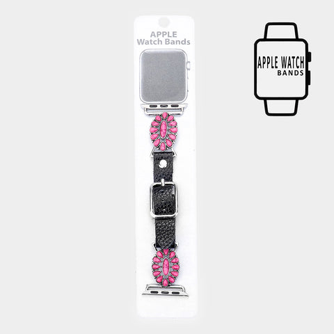 Pink Teardrop Watch Band