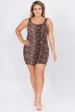 Women's Plus Sz Leopard Dress