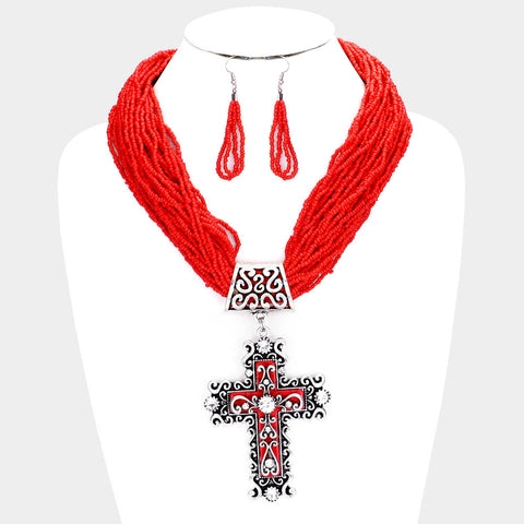 Statement Cross Necklace