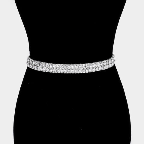 Rhinestone Ribbon Belt - iBESTEST.com