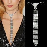 Crystal Tie Necklace - iBESTEST.com
