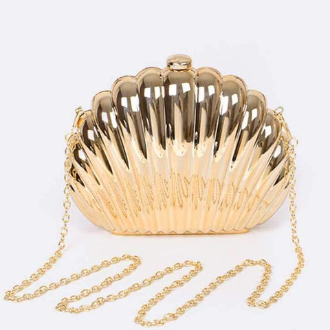 Mirrored Shell Clutch