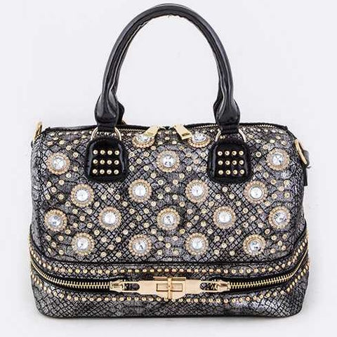 Studded Statement Shoulder Bag