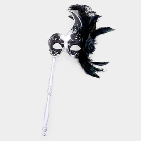 Handheld Feather Masquerade - iBESTEST.com