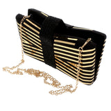 Striped Evening Clutch - iBESTEST.com