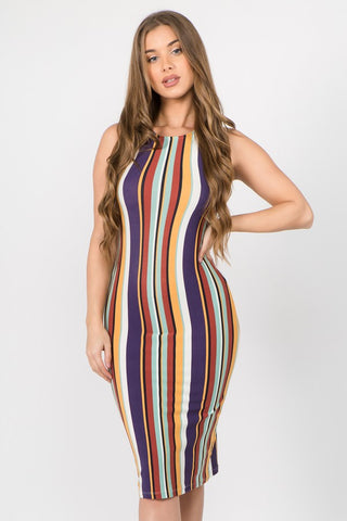 Striped Colorfully Dress