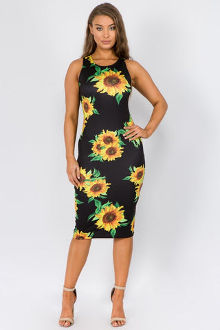 Sunflower Bodycon Dress