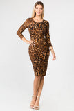 Woman's Animal Print Leopard Dress