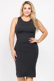 Curvy Charcoal Bodycon Dress