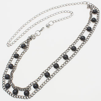 Black Pearl Chain Belt