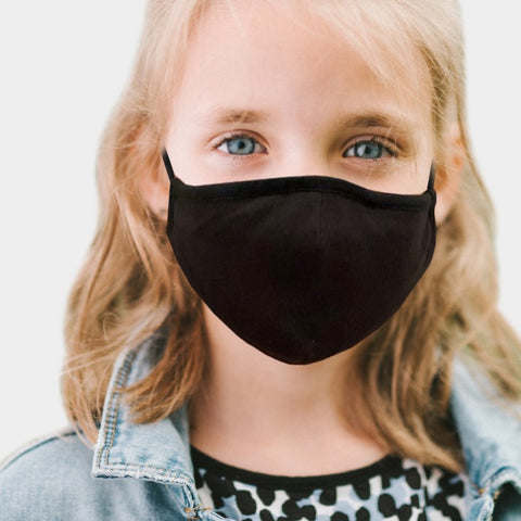 Kids Adjustable Black Mask