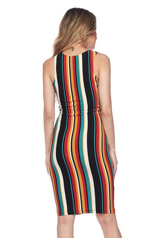 Striped Fashion Dress