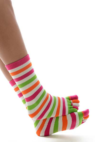 Striped Toe Socks