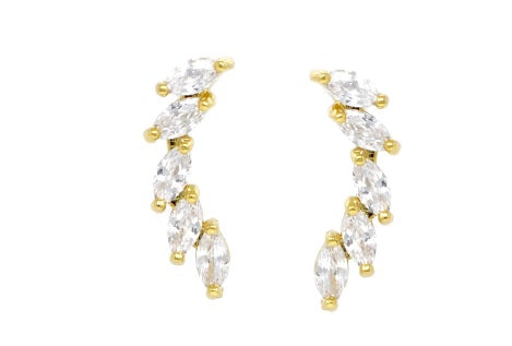 Studded Climbers Marquise CZ Earrings - iBESTEST.com