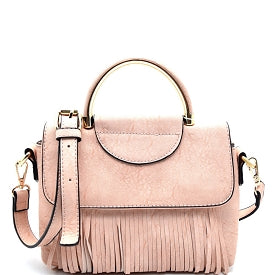 Blush Fringe Crossbody