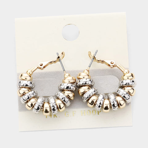 Mixed Metal Puffer Hoops