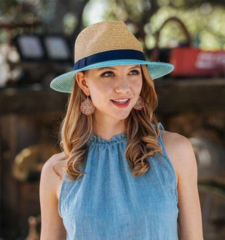 Blue Accent Sun Hat