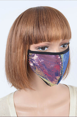 Multicolor Sequined Fashion Mask