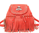 Skull Fringe Backpack