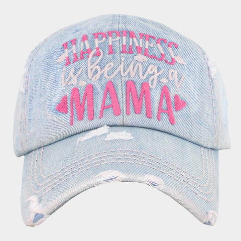 Mama Denim Cap