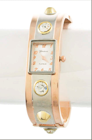 Rose Gold Cuff Watch