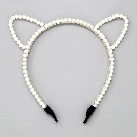Pearl Kitty Headband - iBESTEST.com