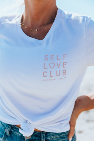 Self Love Club Stacked Tee