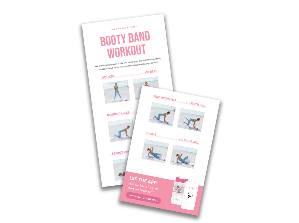Your FREE Booty Bands Sweat Guide